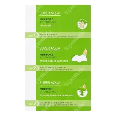 Missha Super Aqua Mini Pore 3Step Nose Patch 3 etapowe plastry oczyszczające na nos 3 g + 1 szt. + 3 g