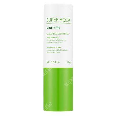 Missha Super Aqua Mini Pore Black Head Clear Stick Peelingujący sztyft usuwający zaskórniki 14 g