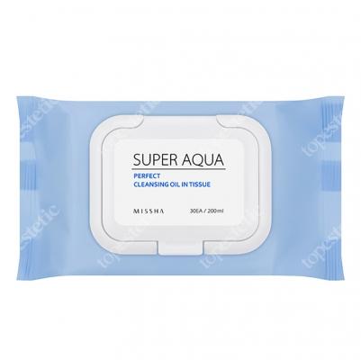 Missha Super Aqua Perfect Cleansing Oil In Tissue Delikatne chusteczki do demakijażu 30 szt