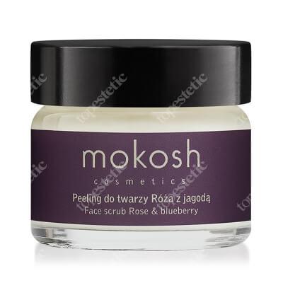 Mokosh Active Face Scrub Aktywny peeling do twarzy róża z jagodą 15 ml