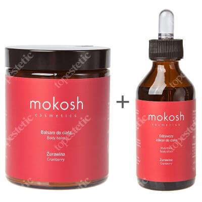 Mokosh Body Balm Cranberry + Nutritive Body Elixir Cranberry ZESTAW Balsam do ciała żurawina 180 ml + Odżywczy eliksir do ciała - Żurawina 100 ml