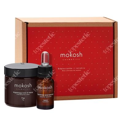 Mokosh Figa Z Ogórkiem ZESTAW Wygładzający krem do twarzy Figa 60 ml + Liposomowe serum pod oczy ogórek 12 ml