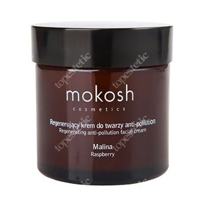Mokosh Regenerating Anti Pollution Facial Cream - Raspberry Regenerujący krem do twarzy - malina 60 ml