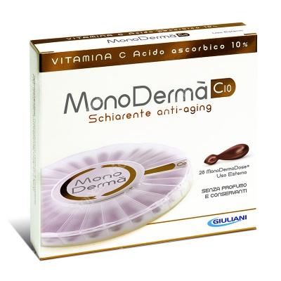 MonoDerma MonoDerma C10 Zawiera czystą witaminę C (kwas l-askorbinowy) w stężeniu 10% - 28 kaps.