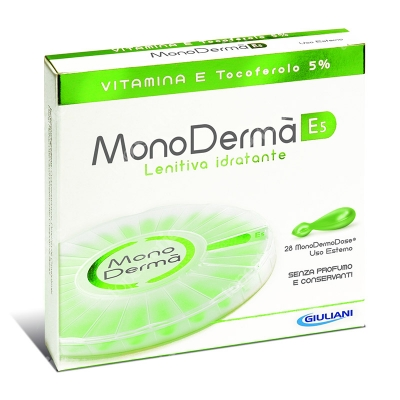 MonoDerma MonoDerma E5 Zawiera czystą witaminę E (tokoferol) w stężeniu 5% - 28 kaps.