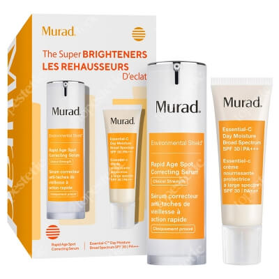 Murad The Super Brighteners ZESTAW Super serum 30 ml + Krem rozświetlający 50 ml