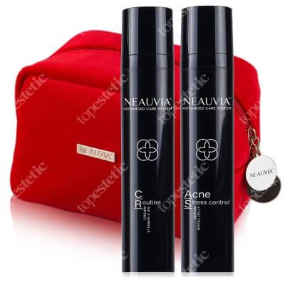 Neauvia C-ROUTINE + Acne Stress Control ZESTAW Codzienny krem z witaminą C 50 ml + Beztłuszczowe serum do twarzy 50 ml + Kosmetyczka gratis