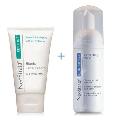 NeoStrata Bionic Face Cream + Skin Active Exfoliating Wash ZESTAW Krem do twarzy 40 g + Złuszczająca pianka do mycia twarzy 125 ml