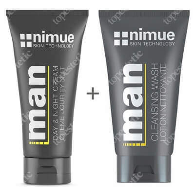 Nimue For Men Set ZESTAW Krem nawilżający 100 ml + Żel głęboko oczyszczający 140 ml