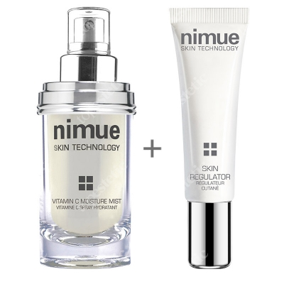Nimue Skin Regulator + Vitamin C Moisture Mist ZESTAW Krem regulujący 15 ml + Mgiełka z witaminą C 60 ml
