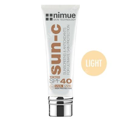 Nimue Sun-C Tinted SPF 40 - Light Barwiony krem przeciwsłoneczny, kolor Light 60 ml