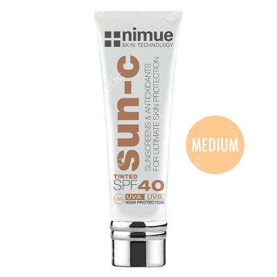 Nimue Sun-C Tinted SPF 40 - Medium Barwiony krem przeciwsłoneczny, kolor Medium 60 ml