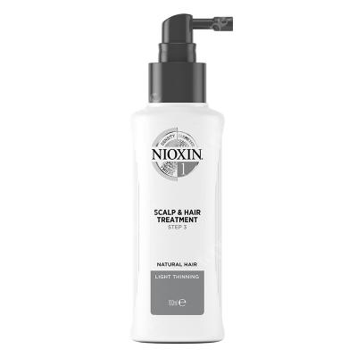 Nioxin Scalp Treatment System 1 Kuracja regenerująca przeciw wypadaniu (włosy naturalne, cienkie, lekko przerzedzone) 100 ml