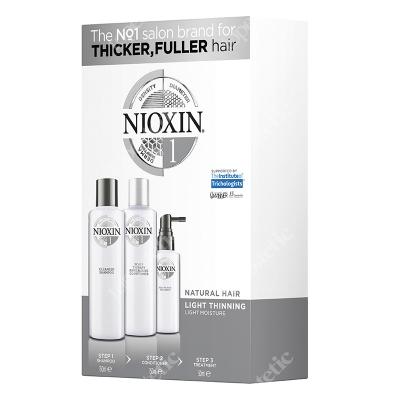 Nioxin System 1 ZESTAW pielęgnacyjny przeciw wypadaniu (włosy naturalne, cienkie, lekko przerzedzone) 150, 150, 50 ml