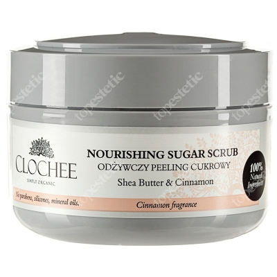 Clochee Nourishing Sugar Scrub Odżywczy peeling cukrowy z cynamonem 250 ml