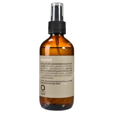 O Way Flowerfall Aromatyczny, przeciwstarzeniowy i energetyzujący hydrolat do skóry głowy i włosów 160 ml