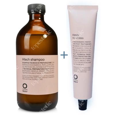 O Way Htech Shampoo + Hmilk No Stress ZESTAW Szampon 500 ml + Mleczko 75 ml