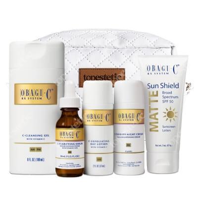 Obagi C-Fx Normal/Dry System ZESTAW Profesjonalny system z witaminą C dla skóry normalnej kierunku suchej - 180 ml, 30 ml, 57 ml, 57 ml, 85 g + Kosmetyczka