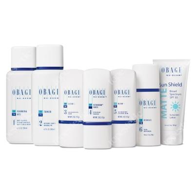 Obagi Nu-Derm Fx Normal/Oily System ZESTAW dla skóry normalnej w kierunku tłustej - 200 ml, 200 ml, 57 ml, 57 ml, 57 ml, 48 ml, 85 g
