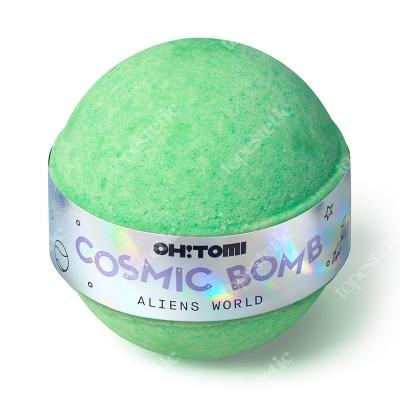 Oh Tomi Aliens World Musująca kula do kąpieli - Zielona herbata 130 g