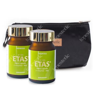 Oligo Elite Etas x 2 ZESTAW Roślinny ekstrakt z dolnej części szparaga Asparagus officinalis 60 kaps. x 2 + kosmetyczka 1 szt