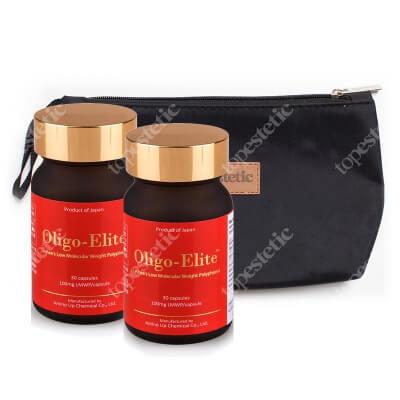 Oligo Elite Oligo Elite x 2 ZESTAW Ektrakt z liczi i zielonej herbaty 2 x 30 kaps. + kosmetyczka gratis 1 szt