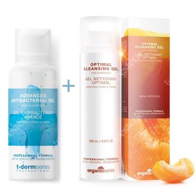 Organic Series Optimal Cleansing Gel & Advanced Antibacterial Gel ZESTAW Żel do mycia twarzy 200 ml + Żel do dezynfekcji rąk 200 ml