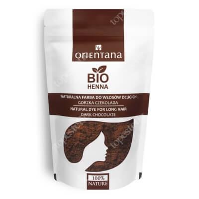 Orientana Bio Henna Naturalna roślinna odżywka do włosów długich - Gorzka czekolada 100 g
