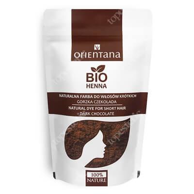 Orientana Bio Henna Naturalna roślinna odżywka do włosów krótkich i półdługich - Gorzka czekolada 50 g