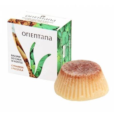 Orientana Natural Body Balm Naturalny balsam do ciała w kostce - Cynamon i paczula 60 g