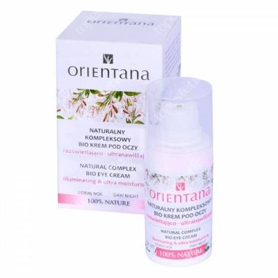 Orientana Natural Complex Bio Eye Cream Naturalny rozświetlający bio krem pod oczy 15 ml