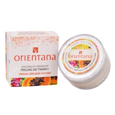 Orientana Natural Face Peeling Naturalny kremowy peeling do twarzy - Papaja i żeń szeń indyjski 50 g