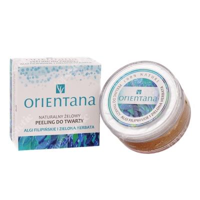 Orientana Natural Gel Peeling Naturalny żelowy peeling do twarzy - Algi filipińskie i zielona herbata 50 g