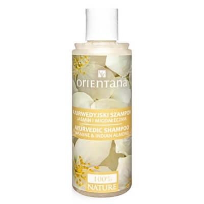 Orientana Natural Hair Shampoo Ajurwedyjski naturalny szampon do włosów - Jaśmin i migdałecznik 210 ml