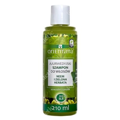 Orientana Natural Hair Shampoo Ajurwedyjski szampon do włosów - Neem i zielona herbata 210 ml