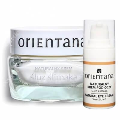 Orientana Natural Snail Eye Cream + Natural Snail Cream ZESTAW Naturalny krem pod oczy ze śluzem ślimaka 15 ml + Naturalny krem ze śluzem ślimaka 50 ml