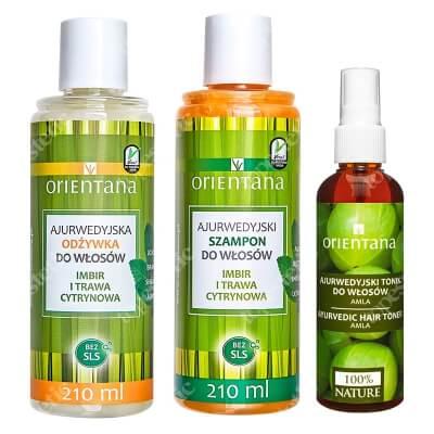 Orientana Pielęgnacja Włosów Suchych ZESTAW Ajurwedyjska odżywka do włosów 210 ml + Ajurwedyjski szampon do włosów + Ajurwedyjski tonik do włosów 100 ml