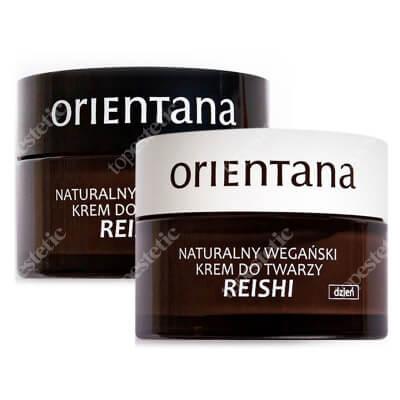 Orientana Reishi Night + Reishi Day ZESTAW Wegański krem do twarzy na noc 50ml + Naturalny wegański krem do twarzy na dzień 50 ml