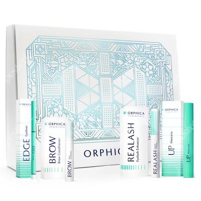 Orphica Premium Beauty ZESTAW Odżywka do rzęs 3 ml + Tusz do rzęs 8 ml + Eyeliner w kredce + Odżywka do brwi 4 ml