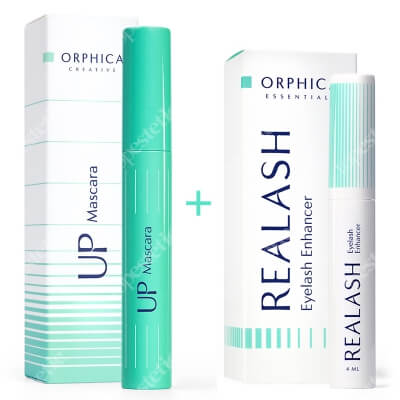 Orphica Realash Eyelash Enhancer + Up Mascara ZESTAW Odżywka do rzęs 4 ml + Tusz do rzęs 7,5 ml