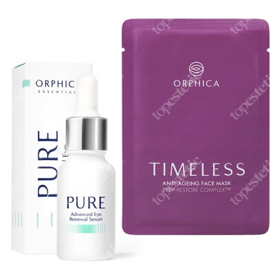 Orphica Timeless Anti-Ageing Face Mask + Pure Advanced Eye Renewal Serum ZESTAW Maska na twarz 1 szt + Serum pod oczy 15 ml