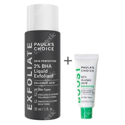 Paulas Choice 10% Azelaic Acid Booster + Skin Perfecting 2% BHA Liquid ZESTAW Serum wygładzające z kwasem azelainowym i salicylowym 5 ml + Płyn złuszczający z 2% kwasem salicylowym 30 ml
