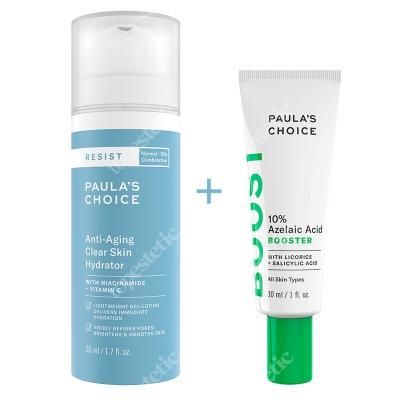 Paulas Choice Azelaic Acid Booster + Resist Anti Aging Clear Skin Hydrator ZESTAW Serum wygładzające 30 ml + Krem nawilżający 50 ml