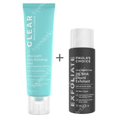 Paulas Choice Blemish - Prone Skin Set ZESTAW Płyn złuszczający z 2% kwasem salicylowym 30 ml + Krem nawilżający do skóry tłustej i trądzikowej 60 ml
