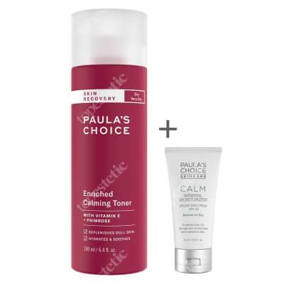 Paulas Choice Calm Mineral Moisturizer SPF 30 + Skin Recovery Enriched Calming Toner ZESTAW Krem nawilżający do skóry normalnej i suchej 15 ml + Tonik łagodzący do skóry suchej i wrażliwej 190 ml