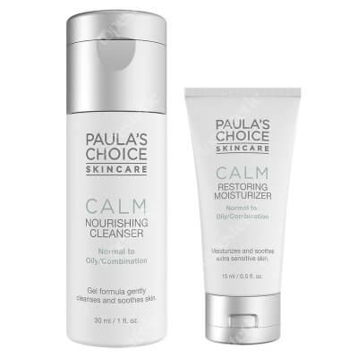 Paulas Choice Calm Redness Relief Cleanser + Calm Redness Relief ZESTAW Płyn oczyszczający do skóry normalnej i tłustej 30 ml + Krem nawilżający do skóry normalnej i tłustej 15 ml