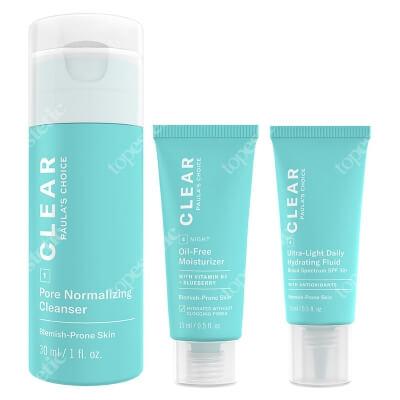 Paulas Choice Clear Extra Strength Travel Kit ZESTAW Żel oczyszczający 30 ml + Krem 15 ml + Krem 15 ml