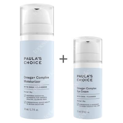 Paulas Choice Omega+ Set ZESTAW Intensywnie odżywczy krem z kwasami Omega 3,6,9 dla skóry suchej 50 ml + Krem z kwasami Omega pod oczy 15 ml