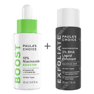 Paulas Choice Resist 10% Niacinamide Booster + Skin Perfecting 2% BHA Liquid ZESTAW Serum z witaminą B3, 20 ml + Płyn złuszczający z 2% kwasem salicylowym 30 ml