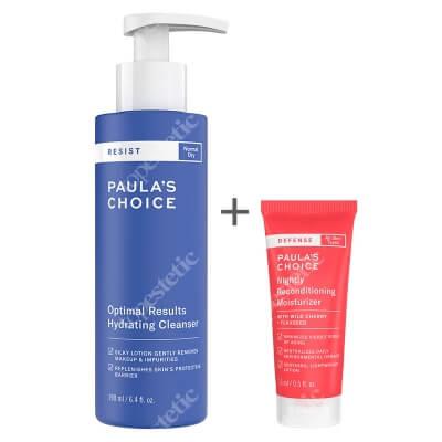 Paulas Choice Resist Optimal Results Cleanser + Defense Nightly Reconditioning Moisturizer ZESTAW Lotion oczyszczający do skóry suchej i wrażliwej 190 ml + Krem na noc wzmacniający blask i oczyszczający skórę 15 ml